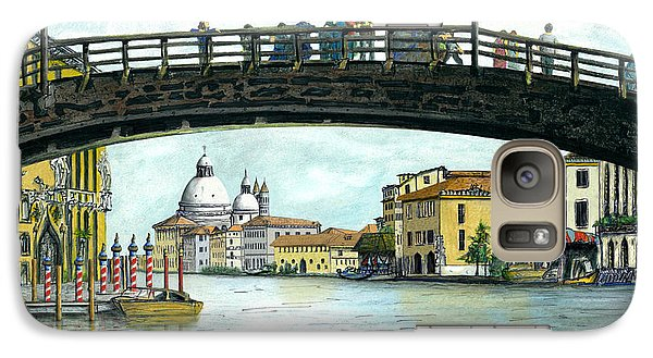 Galaxy Case featuring the painting The Grand Canal Venice Italy by Albert Puskaric