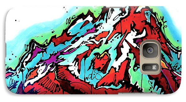 Galaxy Case featuring the painting The Grand From Jackson Lake by Nicole Gaitan