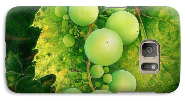 Galaxy Case featuring the painting The Grapes by Anna Ewa Miarczynska