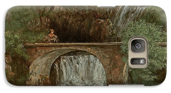 The Great Bridge, 1864 Galaxy Case by Gustave Courbet