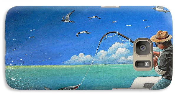 Galaxy Case featuring the painting The Great Catch 1 by S G
