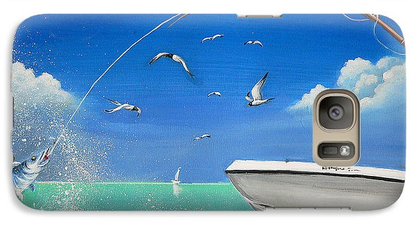 Galaxy Case featuring the painting The Great Catch 2 by S G
