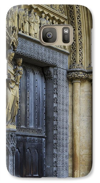 The Great Door Westminster Abbey London Galaxy S7 Case by Tim Gainey