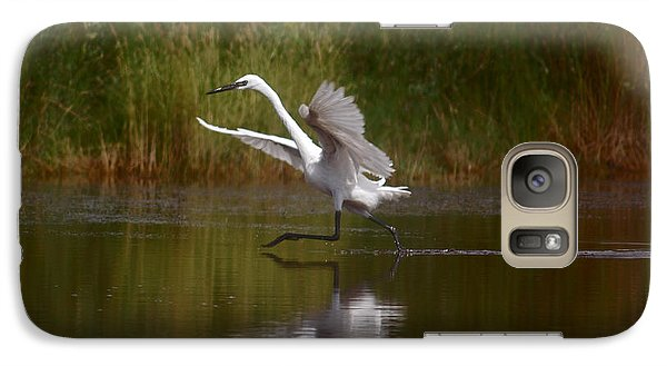 Galaxy Case featuring the photograph The Great Egret by Leticia Latocki