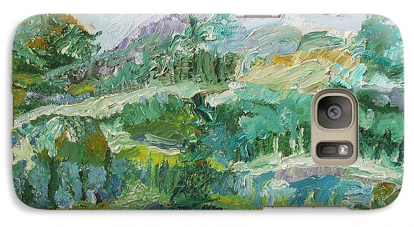 Galaxy Case featuring the painting The Great Land by Shea Holliman