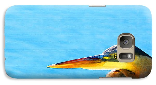 The Great One - Blue Heron By Sharon Cummings Galaxy S7 Case by Sharon Cummings