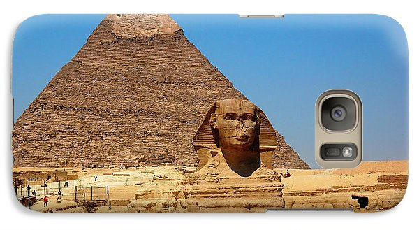 Galaxy Case featuring the photograph The Great Sphinx Of Giza And Pyramid Of Khafre by Joe  Ng