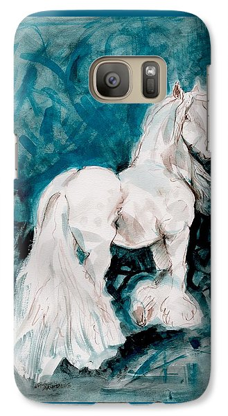 Galaxy Case featuring the painting The Great White by Mary Armstrong