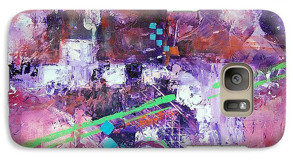Galaxy Case featuring the painting The Green Line by Ron Stephens