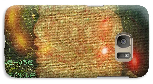 Galaxy Case featuring the photograph The Green Man - Recycle by Absinthe Art By Michelle LeAnn Scott