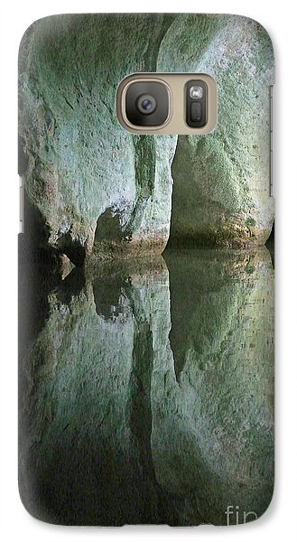 Galaxy Case featuring the photograph The Green Room by Li Newton