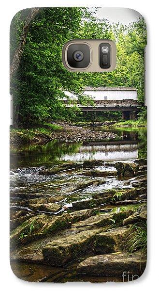Galaxy Case featuring the photograph The Green Sergeants Covered Bridge II by Debra Fedchin