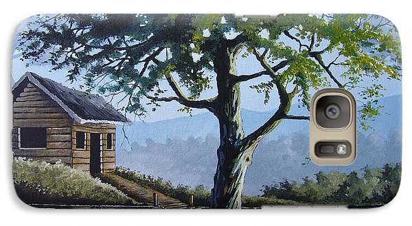 Galaxy Case featuring the painting The Green Tree by Anthony Mwangi