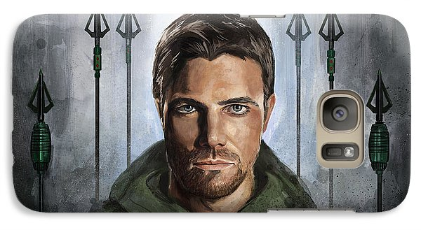 Galaxy Case featuring the digital art The Green Vigilante  by Steve Goad