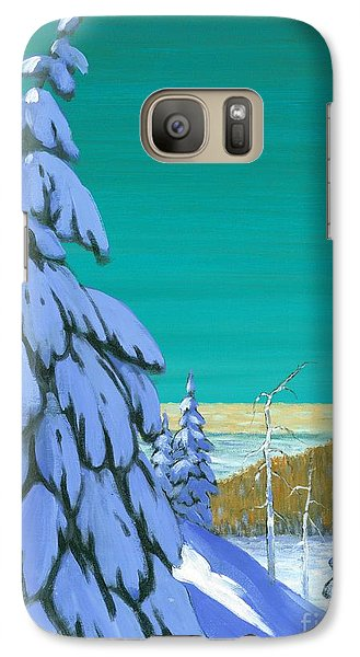 Galaxy Case featuring the painting Blue Mountain High by Michael Swanson