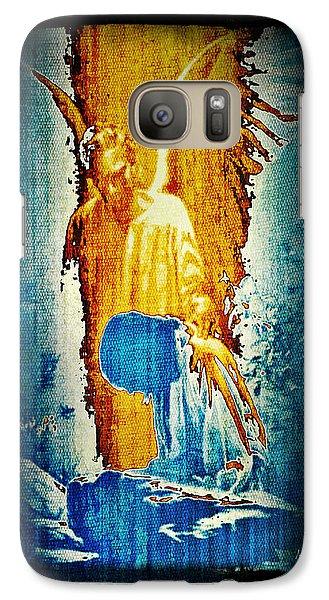 Galaxy Case featuring the digital art The Guardian Angel by Absinthe Art By Michelle LeAnn Scott