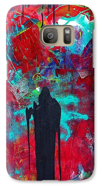 Galaxy Case featuring the painting The Guardian by Carolyn Repka