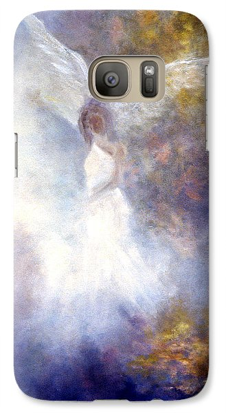 Galaxy Case featuring the painting The Guardian by Marina Petro