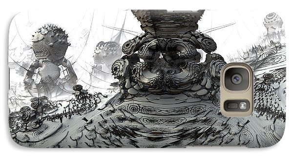 Galaxy Case featuring the digital art The Guardians by Arlene Sundby