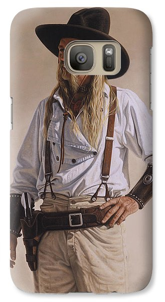 Galaxy Case featuring the painting The Gunslinger by Ron Crabb