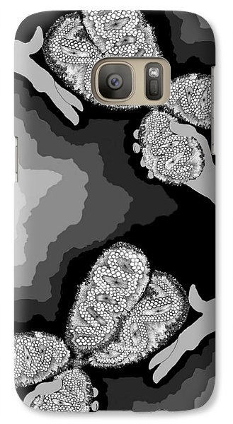 Galaxy Case featuring the digital art The Hand-off by Carol Jacobs