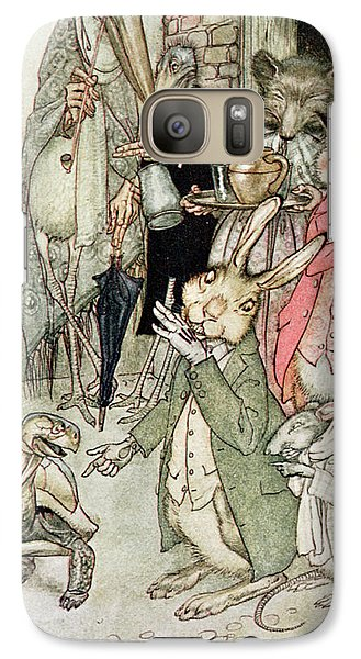 Vulture Galaxy S7 Case - The Hare And The Tortoise, Illustration From Aesops Fables, Published By Heinemann, 1912 Colour by Arthur Rackham
