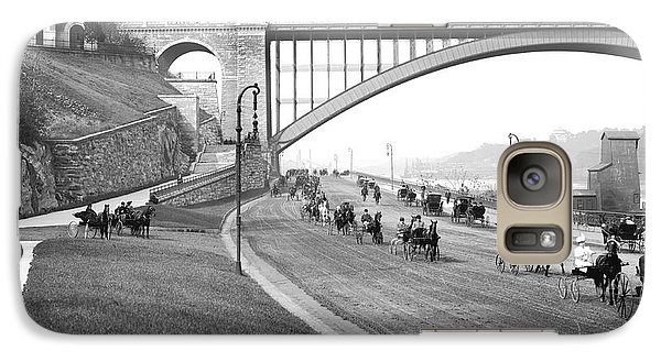 The Harlem River Speedway Galaxy Case by Detroit Publishing Company