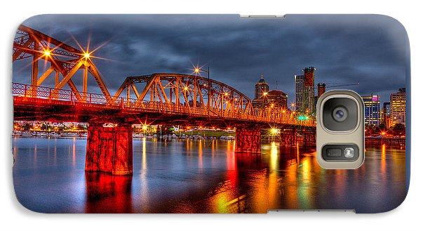 Galaxy Case featuring the photograph The Hawthorne Bridge - Pdx by Thom Zehrfeld