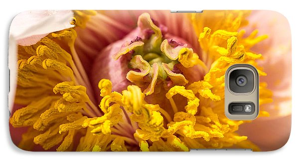 Galaxy Case featuring the photograph The Heart Of A Dahlia by Cathy Donohoue