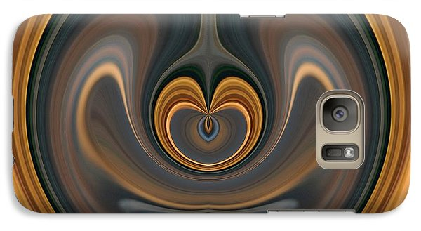 Galaxy Case featuring the digital art the Heart of Time by rd Erickson
