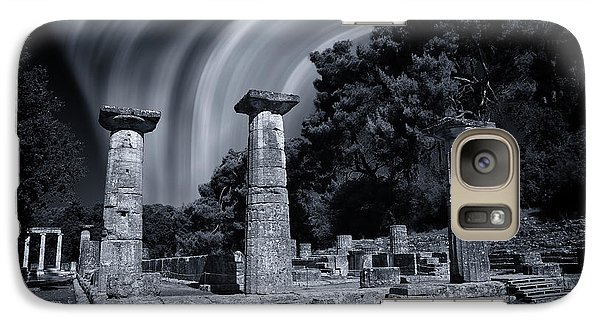 Galaxy Case featuring the photograph The Heraion Of Ancient Olympia by Micah Goff