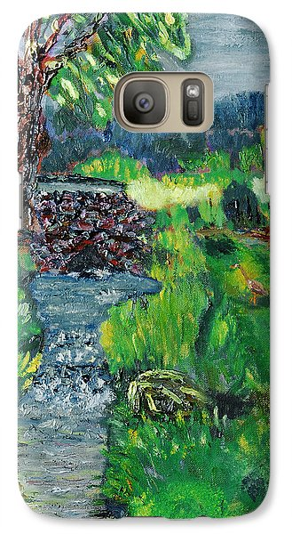 Galaxy Case featuring the painting The Heron by Michael Daniels