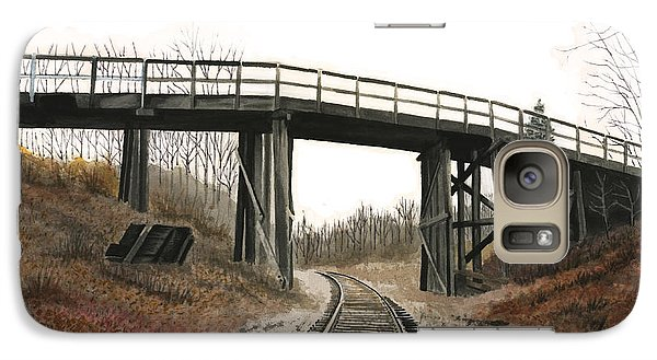 Galaxy Case featuring the painting The High Bridge by Ferrel Cordle