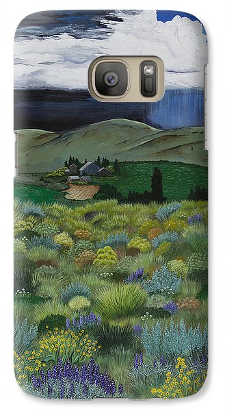 Galaxy Case featuring the painting The High Desert Storm by Jennifer Lake