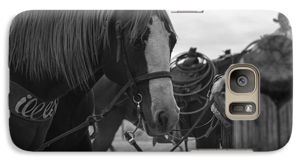 Galaxy Case featuring the photograph The Hitching Post by Amber Kresge