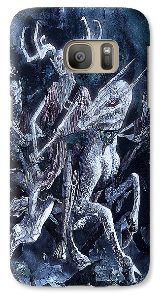 Galaxy Case featuring the painting The Horned King 2 by Curtiss Shaffer