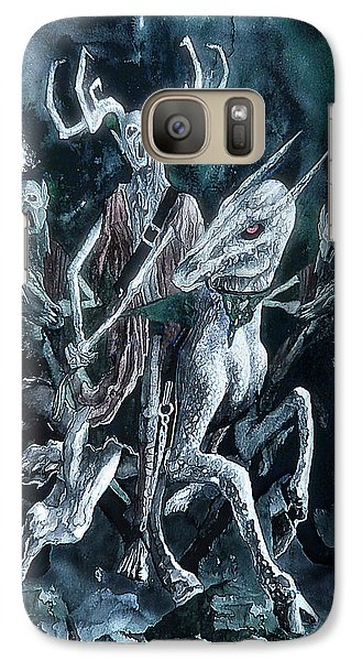 Galaxy Case featuring the painting The Horned King by Curtiss Shaffer