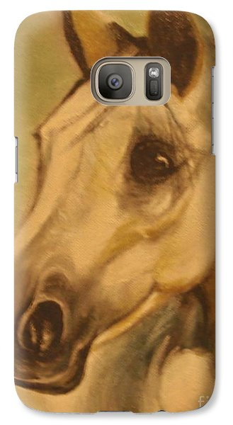 Galaxy Case featuring the painting The Horse by Sorin Apostolescu