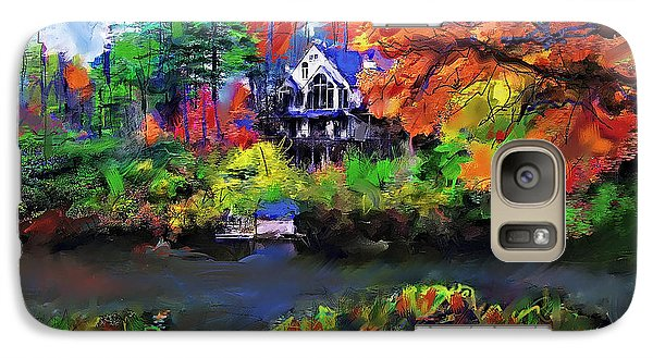 Galaxy Case featuring the painting The House At Highlands by Ted Azriel