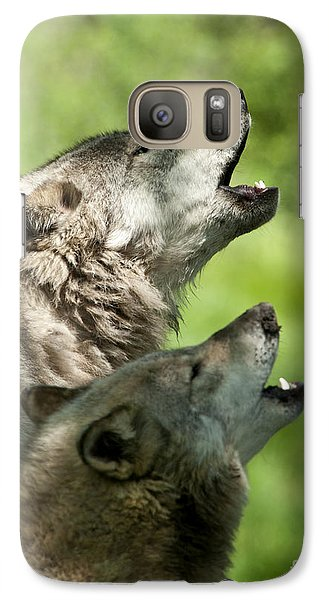 Galaxy Case featuring the photograph The Howling by Wolves Only