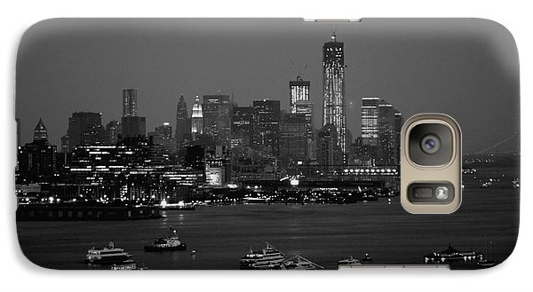 Galaxy Case featuring the photograph The Hudson And Freedom Tower by Living Color Photography Lorraine Lynch