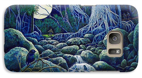 Galaxy Case featuring the painting The Hunt For The Wolfman by Michael Frank