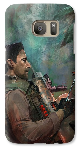 Galaxy Case featuring the digital art The Hunting Of Man by Steve Goad