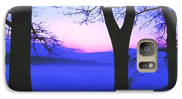 Galaxy Case featuring the painting The Hush At First Light by Sophia Schmierer