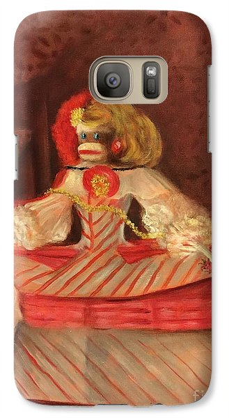 Galaxy Case featuring the painting The Infant Margarita by Randol Burns
