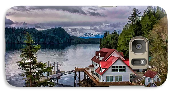 Galaxy Case featuring the photograph The Inlet Painitng by Timothy Latta