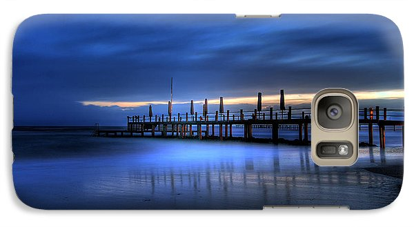 Galaxy Case featuring the photograph The Innocent White In Blue by Erhan OZBIYIK