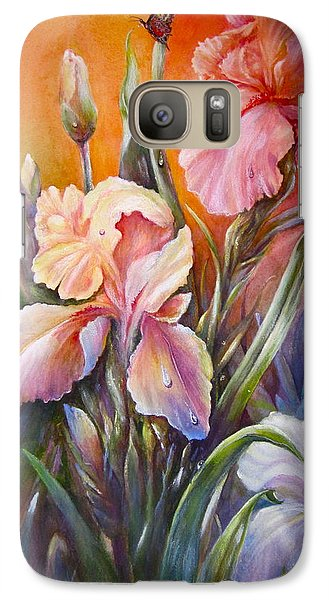 Galaxy Case featuring the painting The Iris Of  Spring  by Patricia Schneider Mitchell