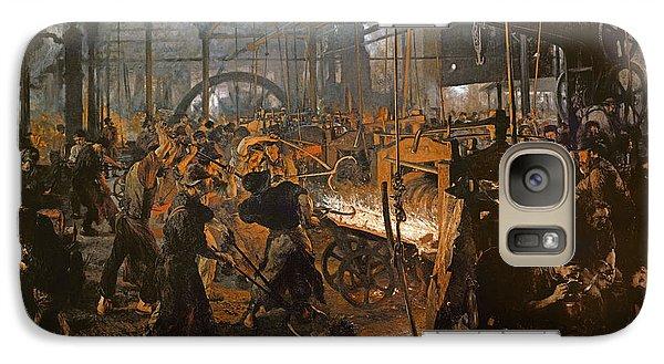 The Iron-rolling Mill Oil On Canvas, 1875 Galaxy S7 Case by Adolph Friedrich Erdmann von Menzel