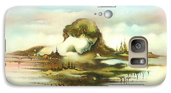 Galaxy Case featuring the painting The Island by Anna Ewa Miarczynska
